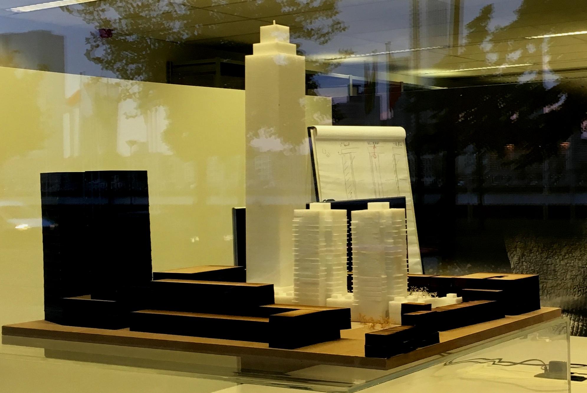 Zalmhaven toren door raam Kaan architecten Boompjes